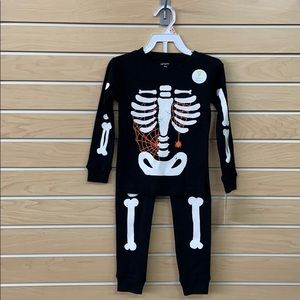NWT Carter's Skeleton Pajama Set
